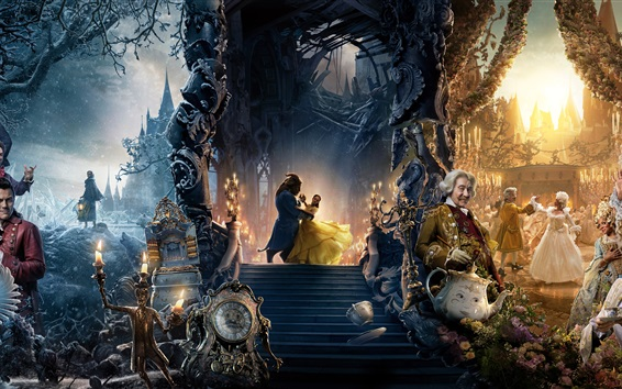 Wallpaper Beauty and the Beast, Disney movie 2017