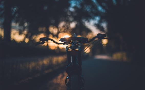 Wallpaper Bike seat at sunset