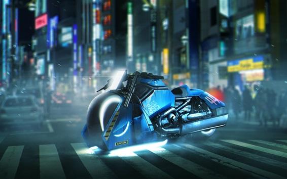Wallpaper Blade Runner 2049, Harley Davidson motorcycle