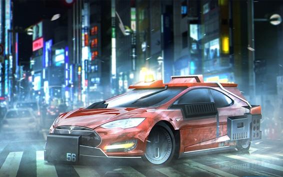 Fondos de pantalla Blade Runner 2049, modelo Tesla Model S