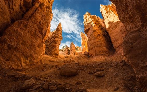 Wallpaper Bryce Canyon, mountains, rocks, sky, clouds, USA