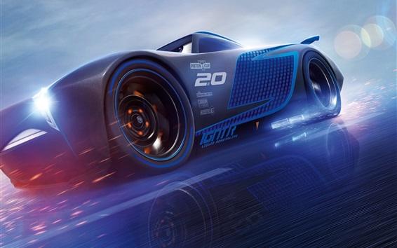 Fondos de pantalla Cars 3, velocidad azul del superdeportivo