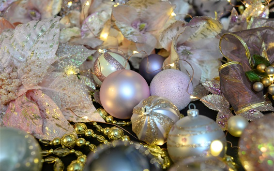 Wallpaper Christmas decorations, balls