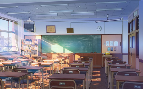Fond d'écran Salle de classe, anime, Japon