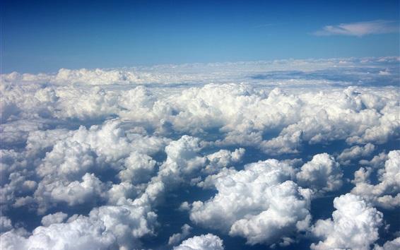 Wallpaper Clouds sea, sky