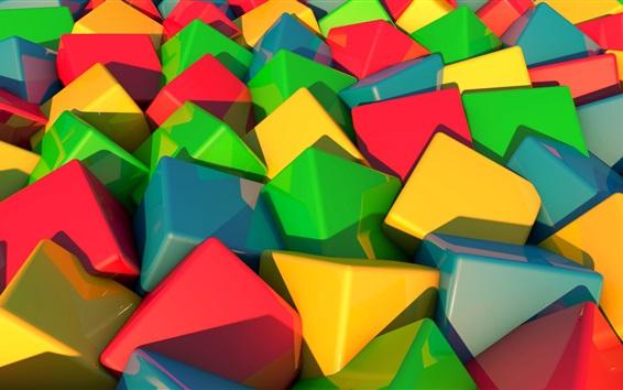 Papéis de Parede Cubos 3D coloridos