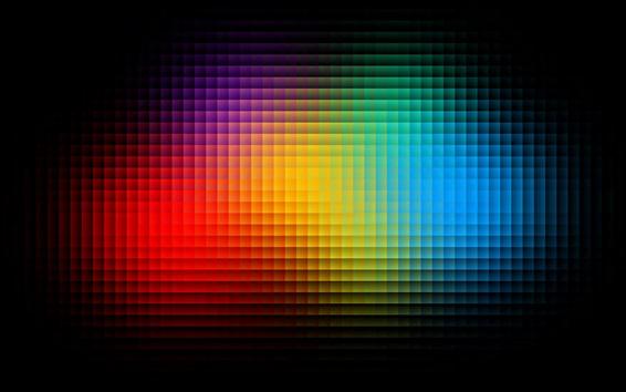Wallpaper Colorful pixels, shiny