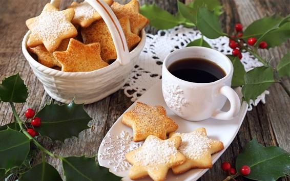 Wallpaper Cookies, coffee, breakfast