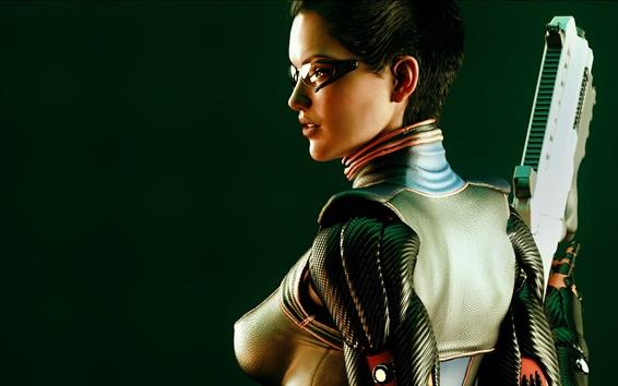 Wallpaper Deus Ex: Human Revolution, girl