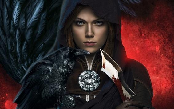 Hintergrundbilder Dragon Age: Inquisition, Mädchen, Dolch