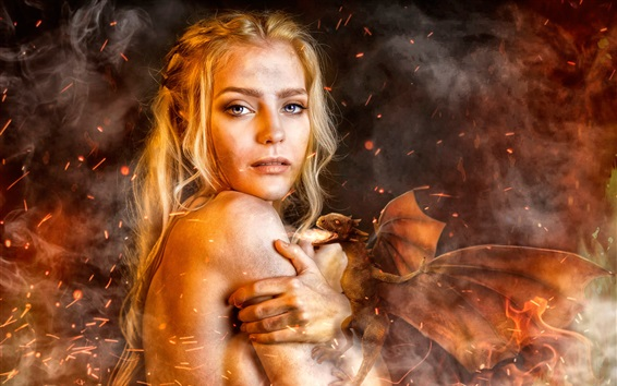 Wallpaper Game of Thrones, Daenerys Targaryen, cosplay girl