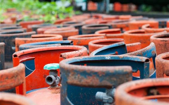 Wallpaper Gas metal bottles, colors, rust