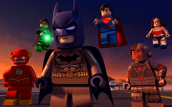 Wallpaper Lego movie, DC Comics, superheroes