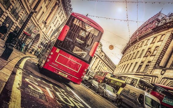 Обои Лондон, Риджент-стрит, город, трамвай