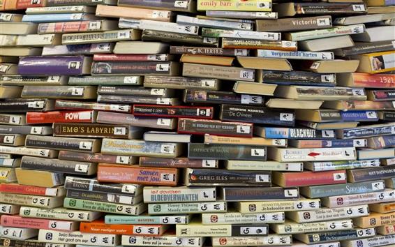 Papéis de Parede Muitos livros de fundo