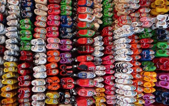 Fond d'écran Beaucoup de chaussures pour enfants, colorées