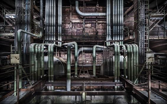 Papéis de Parede Muitos tubos, fábrica
