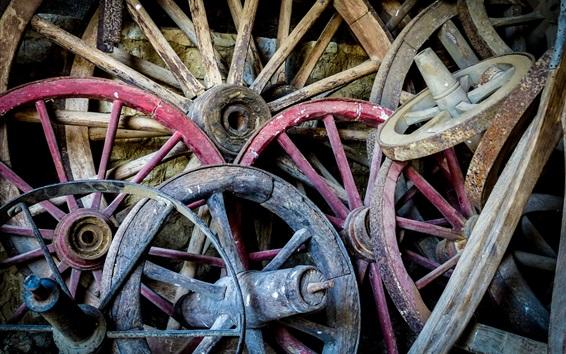 Fond d'écran Beaucoup de roues en bois