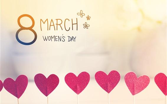 Wallpaper March 8, Women's Day, love hearts
