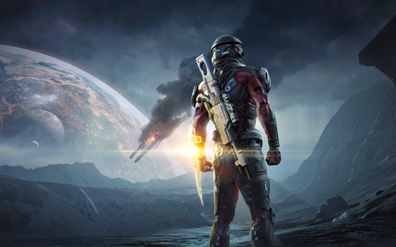 Wallpaper Mass Effect: Andromeda, PS4 games