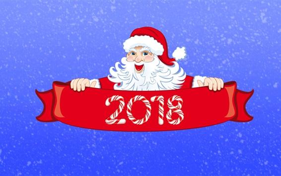 Papéis de Parede Feliz Natal 2018, Ano Novo, Papai Noel