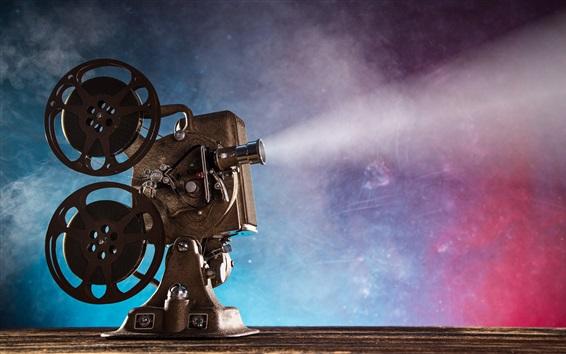 Wallpaper Movie projector, retro style