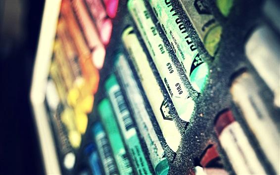 壁紙 多色鉛筆、クレヨン