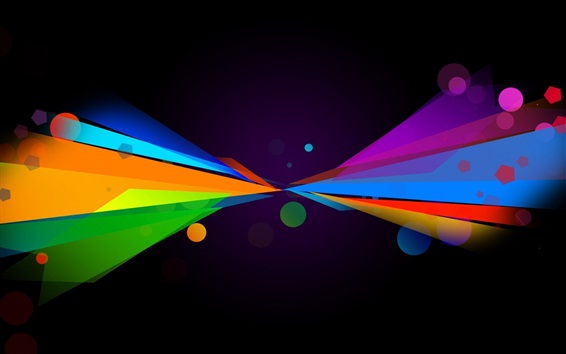Wallpaper Multicolored lines, symmetry, abstract