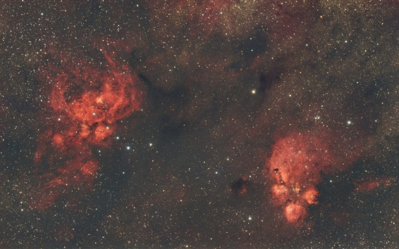 Wallpaper Nebula, space, stars, red style