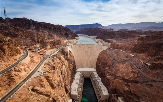 Wallpaper Nevada, Grand Canyon, Hoover Dam, USA