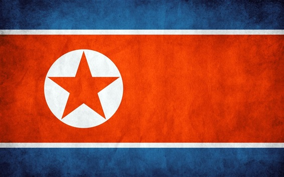 Wallpaper North Korea flag