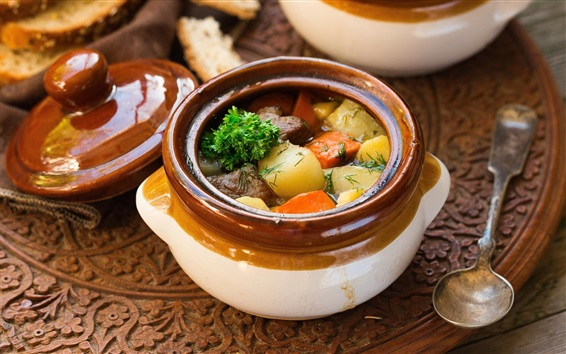 Wallpaper Nutritional stew, vegetables
