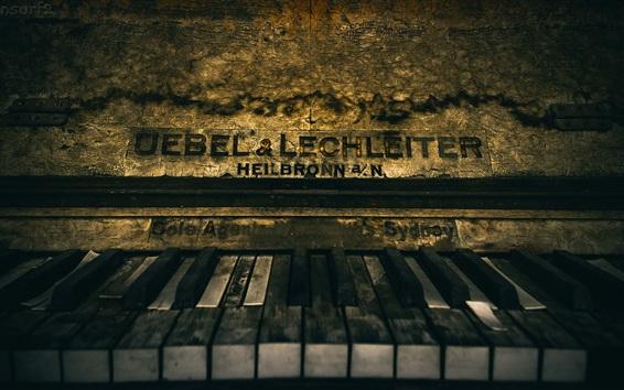 Wallpaper Old piano