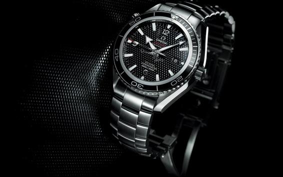 Wallpaper Omega watch, black style