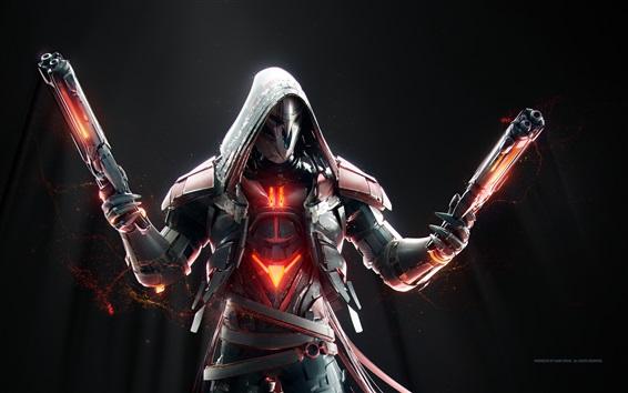 Wallpaper Overwatch, Reaper, weapon, mask