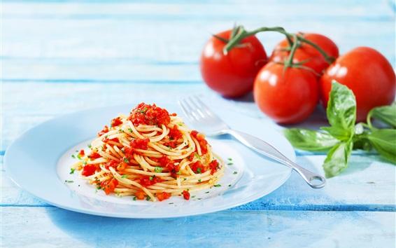 Wallpaper Pasta, tomatoes