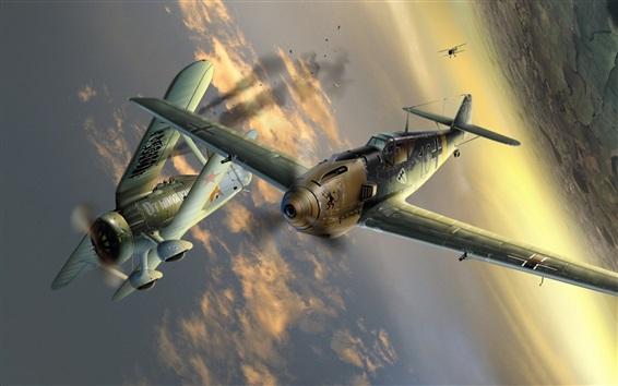 Papéis de Parede Avança vôo no céu, foto de arte