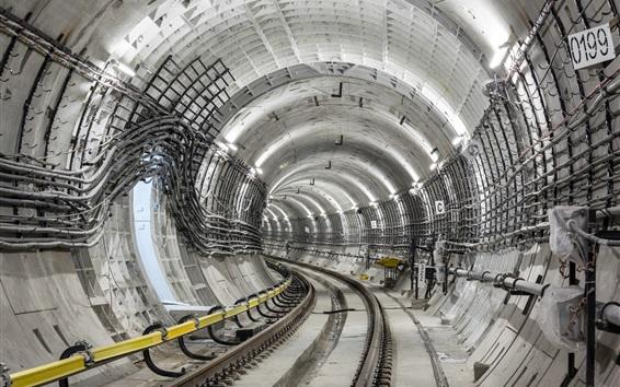 Papéis de Parede Ferroviário, túnel