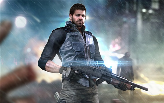Fondos de pantalla Resident Evil, hombre, pistola, juegos de Capcom