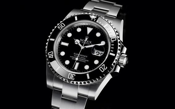 Fond d'écran Rolex montre noire