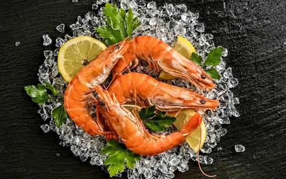 Wallpaper Seafood, shrimp
