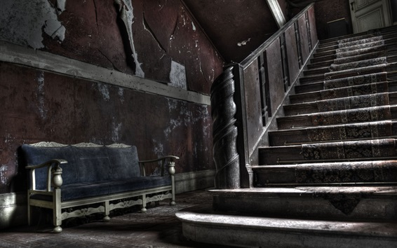 Wallpaper Sofa, ladder, dust
