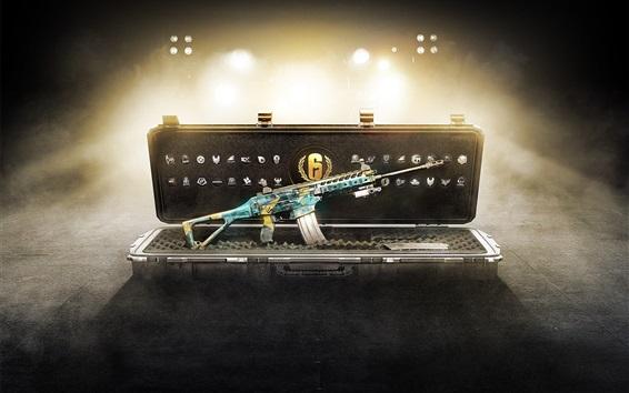 Fondos de pantalla Tom Clancy's Rainbow Six, rifle, caja