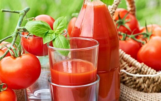 Wallpaper Tomatoes drinks, tomato juice