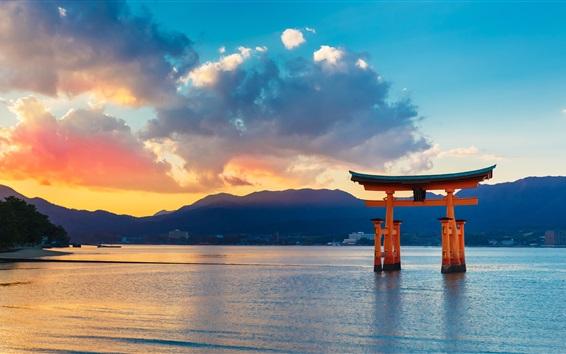 厳島神社の日本の景色の壁紙