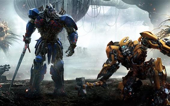 Fondos de pantalla Transformers 5, Optimus Prime y Bumblebee
