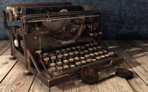 Wallpaper Vintage typewriter, retro