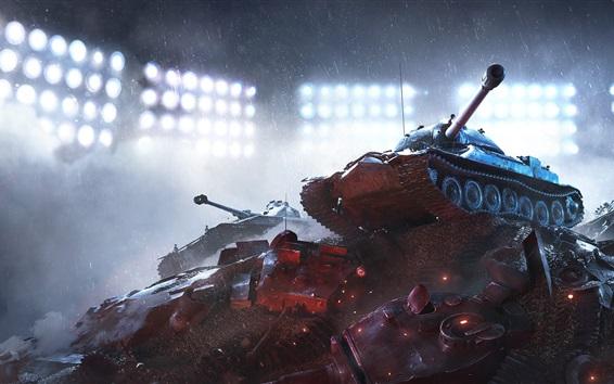 Fondos de pantalla World of Tanks, lluvioso
