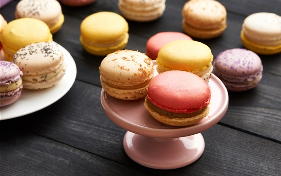 Wallpaper Almond, macaron, sweet food, colorful