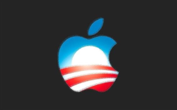 Обои Apple, красочный, логотип, пиксель
